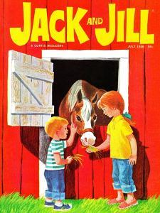 Feeding the Horse - Jack and Jill, July 1966 by Beth Krush