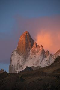 Cerro Fitz Roy Glows Pink At Dawn As Seen From the Rio Blanco Valley by Beth Wald