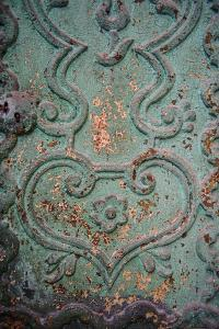 Paint Peels from a Green Painted Iron Door Panel of the Monasterio De Santa Catalina by Beth Wald