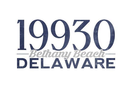 Bethany Beach, Delaware - 19930 Zip Code (Blue)-Lantern Press-Art Print