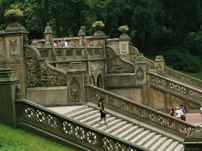 Bethesda Terrace Steps in Central Park-Melissa Farlow-Photographic Print