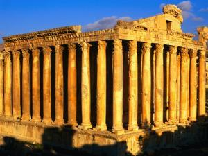 Exterior of Temple of Bacchus, Baalbek, Lebanon by Bethune Carmichael