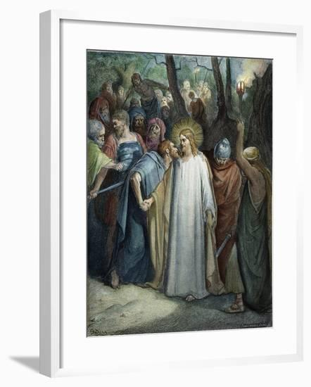 Betrayal of Christ-Gustave Doré-Framed Giclee Print