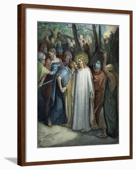 Betrayal of Christ-Gustave Doré-Framed Giclee Print