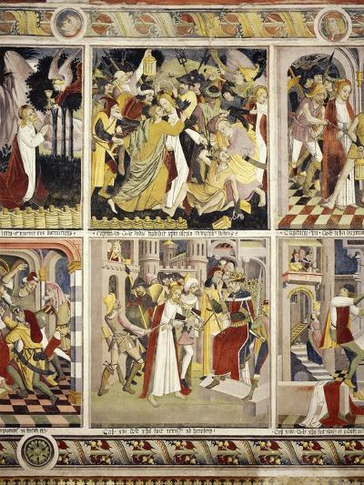 Betrayal of Jesus Christ and Jesus before Pilate, 1491-Giovanni Canavesio-Giclee Print