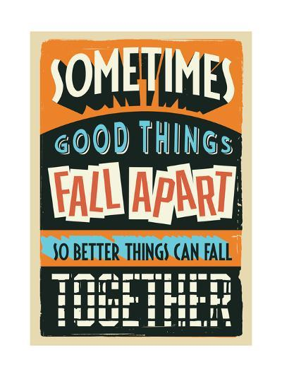 Better Things Can Fall Together-Vintage Vector Studio-Art Print