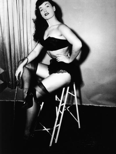 Bettie Page, American Model and Pin Up, C. 1955--Photo