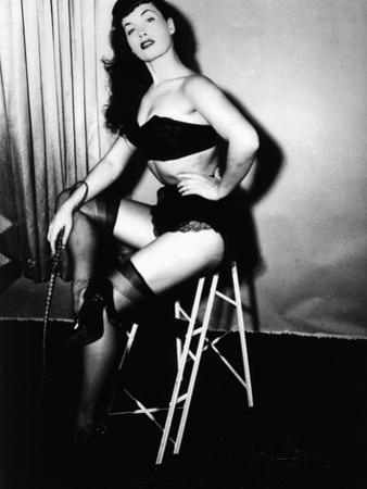 Bettie Page, American Model and Pin Up, C. 1955