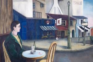 Man at Paris Cafe, 1976 by Bettina Shaw-Lawrence