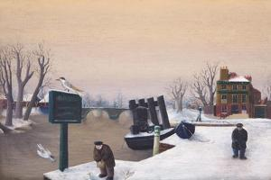 Richmond Riverside under Snow, 1947 by Bettina Shaw-Lawrence