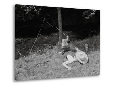 Boy Fishing in the Country