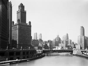 Chicago Skyline and River by Bettmann