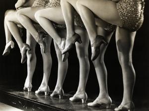 Chorus Girls' Legs by Bettmann