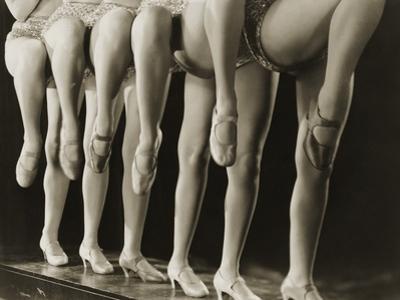 Chorus Girls Lining Up Showing Legs