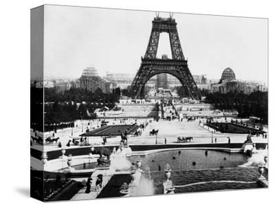 Eiffel Tower Being Constructed Halfway