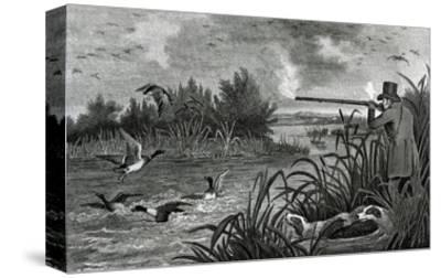 Engraving Of Duck Shooting