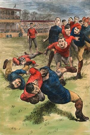 Illustration on Early Scenes of Football