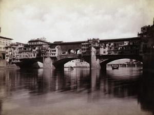 Ponte Vecchio over the River Arno in Florence by Bettmann