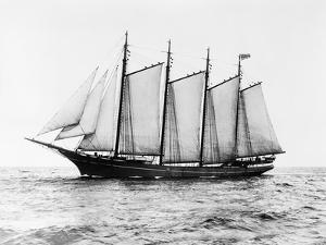 Short-Masted Schooner by Bettmann
