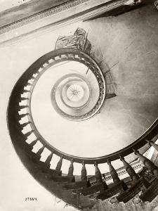 St. Louis Hotel's Winding Staircase by Bettmann