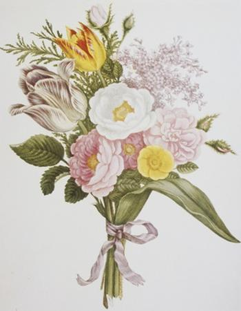 Still Life of Lilacs, Roses, Buttercups and Lilies of the Valley by Jean Louis Prevost