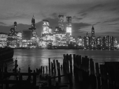 View of Manhattan Skyline from Brooklyn by Bettmann