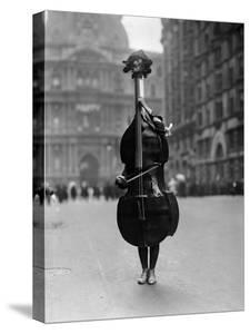 Walking Violin in Philadelphia Mummers' Parade, 1917 by Bettmann