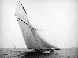 Yacht Columbia Sailing by Bettmann