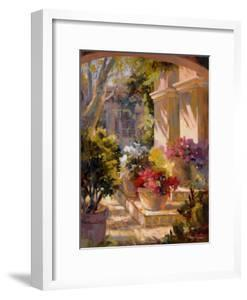 Flowered Courtyard by Betty Carr