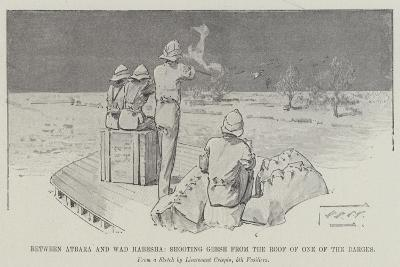 Between Atbara and Wad Habesha, Shooting Geese from the Roof of One of the Barges-Thomas Walter Wilson-Giclee Print