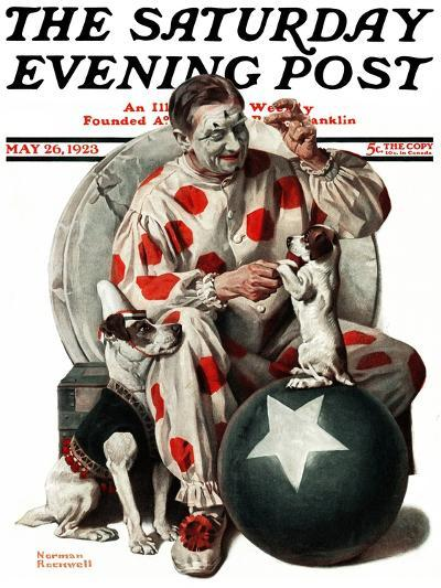 """""""Between the Acts"""" Saturday Evening Post Cover, May 26,1923-Norman Rockwell-Giclee Print"""