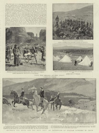 Between the Devil and the Deep Sea, an Adventure of Italian Officers in Crete-Frank Craig-Giclee Print
