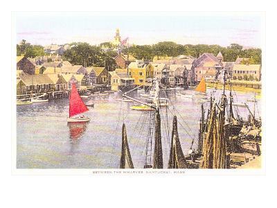 Between the Wharves, Nantucket, Massachusetts--Art Print