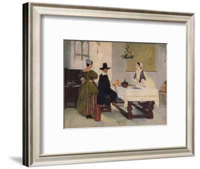 Between Two Fires, c1892, (1938)-Francis Davis Millet-Framed Giclee Print