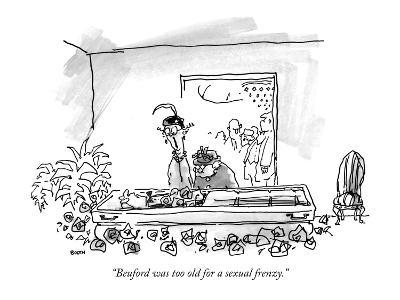 """""""Beuford was too old for a sexual frenzy."""" - New Yorker Cartoon-George Booth-Premium Giclee Print"""