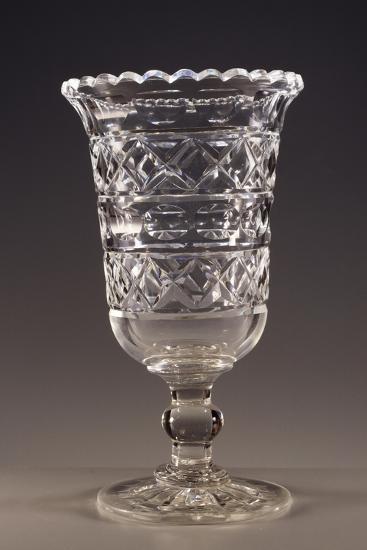 Beveled Crystal Wine Glass, England--Giclee Print