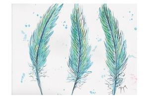 Aqua Feathers by Beverly Dyer
