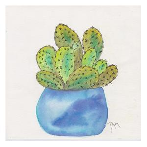 Cactus Pot I by Beverly Dyer