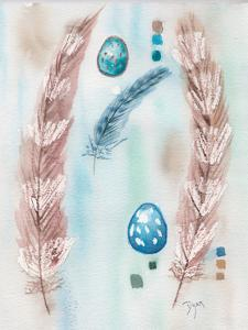 Feather and Egg Study by Beverly Dyer