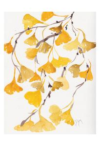 Golden Gingko A by Beverly Dyer