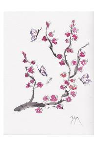 Plum Blossom with Butterflies by Beverly Dyer