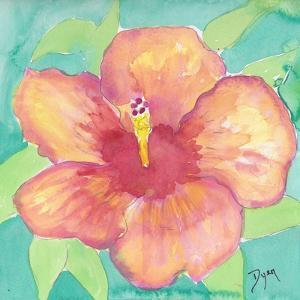 Sunset Hibiscus II by Beverly Dyer