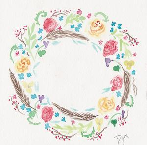 Wildflower Wreath 1 by Beverly Dyer