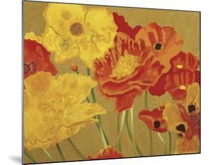Poppy Garden I by Beverly Jean