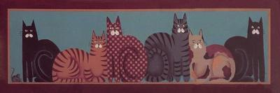 6 Cats with Border