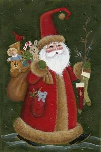 Santa Holding Toys and Stockings by Beverly Johnston