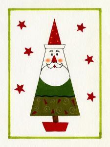 Santa Shaped Christmas Tree by Beverly Johnston
