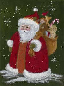Santa with a Sack of Toys by Beverly Johnston