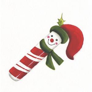 Smiling Candy Cane by Beverly Johnston