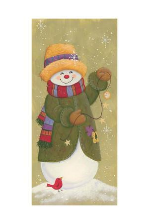 Snowman in Jacket, Scarf, and Hat Holding a Pocket Watchtis the Season.....